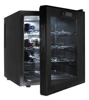 Lacor 69186 16 Flasech Einzahnen Weinkühler, schwarz