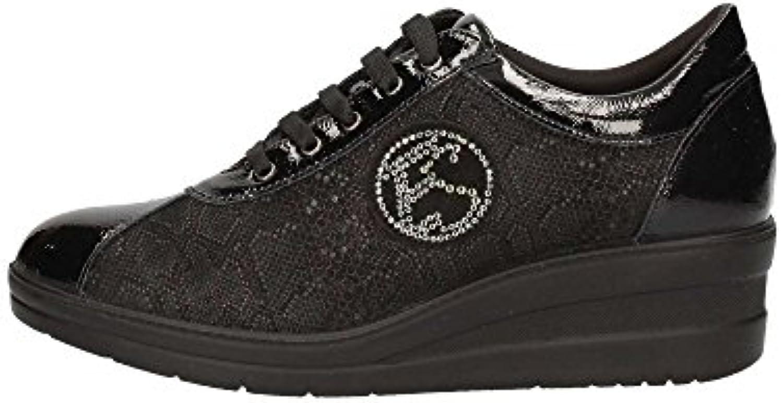 ENVAL SOFT zapatos de mujer zapatillas de deporte de la cuña 89612/00 NEGRO