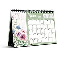 Miquelrius 28056 - Calendario de Sobremesa A5 para escribir Flores 2020 Castellano