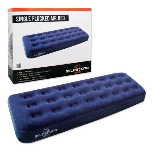 colchon-de-aire-individual-flocado-milestone-camping-azul