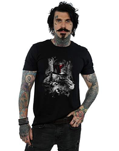 a Fett Distressed T-Shirt Schwarz XXX-Large ()