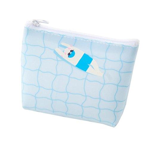 Bluestercool Portafoglio Donna Piccolo Borsa Cerniera Moda Blu
