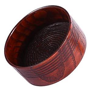 Filfeel Rasierschale, Holzrasur Seifenschale Tasse Becher Werkzeug Natürliche für Mann Rasierer Rasierschaum Runde