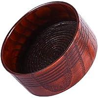 Tazón de Afeitar, Herramienta de la Taza de la Tazón de Fuente del Cuenco de Afeitar de Madera Natural para la Espuma de Limpieza de la de la Máquina de Hombre Redondo