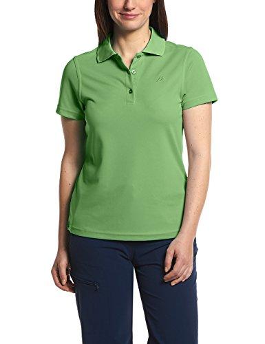MAIER SPORTS Damen Polo Ulrike T-shirt, Grün (Fluorite Green)