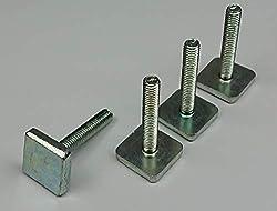 Tuning Pedals 4er Set Nutensteine, T-Nut, kompatibel zu Thule