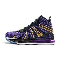 Men's Zoom Lebron 17 XVII EP Basketball Shoes Purple/Gold (8.5 US Men)