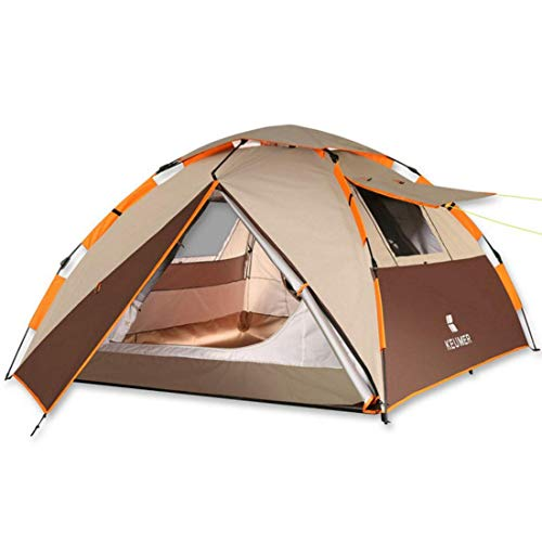 CATRP Marke Zelt, 3-4 Personen Outdoor Rainproof Automatic Camping Zelt, 3 Farben (Farbe : Brown)