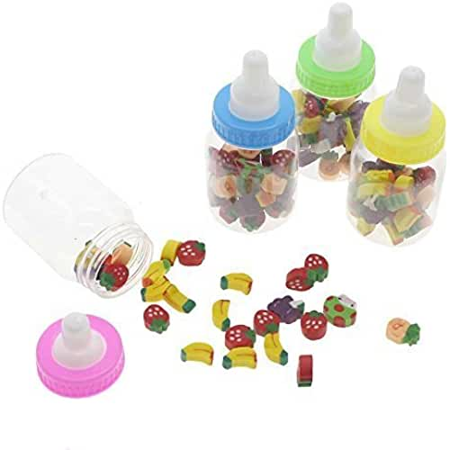 mini kawaii miniaturas kawaii Botella de 1/24 Mini Cute Kawaii Cartoon fruta de goma lápiz borrador para niños regalo