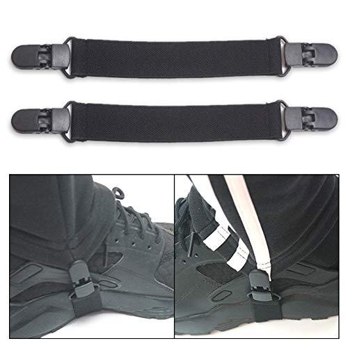 MoO1deer Steigbügel-Hosen, elastisch, verstellbar, 2 Stück