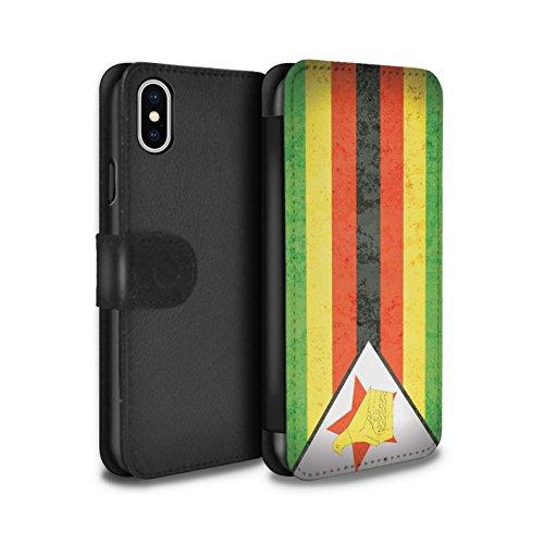 STUFF4 PU-Leder Hülle/Case/Tasche/Cover für Apple iPhone 6 / Südafrika Muster / Afrika Flagge Kollektion Simbabwe/Simbabwisch