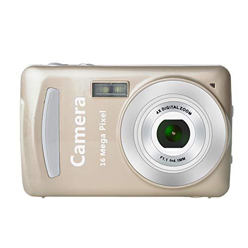 Portable Mini 2,4 Pouces TFT LCD écran d'affichage Haute définition Caméra Poche caméra de Prise de Vue Automatique Effacer Prise de Vue(Or)