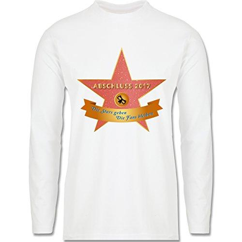 Abi & Abschluss - Abschluss 2017 - Die Stars gehen, die Fans bleiben - Longsleeve / langärmeliges T-Shirt für Herren Weiß