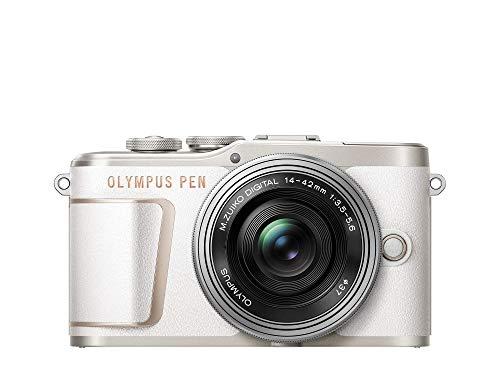 Oferta de Olympus E-PL10 Pancake Zoom - Cámara de 10 MP (batería y cargador incluidas) blanco - kit cuerpo con dos objetivos E-PL10 blanco + EZ-M1442EZ plata