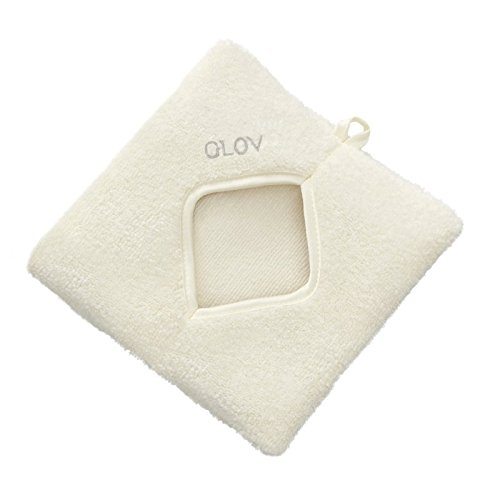 GLOV COMFORT - Ivory - Démaquillant microfibre pour le visage et les yeux - Enlève le maquillage naturel et facile, le nettoyage du visage sans produits chimiques et lingettes - Enlever le maquillag