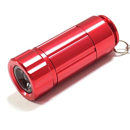 Preisvergleich Produktbild Mini USB wiederaufladbar Keychain Taschenlampe, KENO zwei Farben Aluminium LED Schlüsselanhänger Handlampe(Rot)