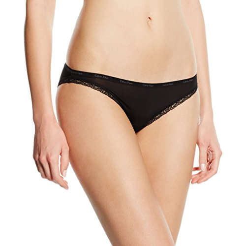 Calvin Klein Damen Slip BOTTOMS UP - BIKINI, Gr. 38 (M), Schwarz (001 BLACK) -