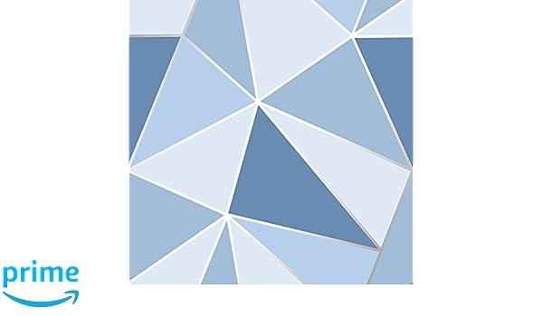 Papier peint Rouleaux de papier peint Apex Géométrique Papier Peint Bleu-FINE DECOR FD41992 triangles