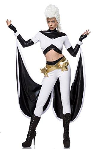 uperheld Held Men Heldin Halloween Mutant Damenkostüm Horror Damen 5-tlg. Set X (Superhelden-kostüme Für Halloween)
