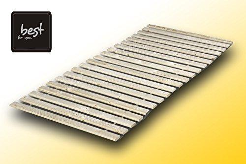 Best For You Rollrost aus 15 oder 20 massiven stabilen Holzlatten Fichtenholz Geeignet für alle Matratzen - in 2 Grössen 90x200 cm und 140x200 cm (140x200-20 Latten)