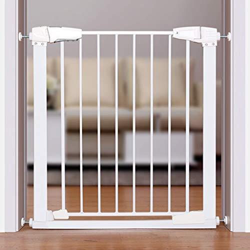 HULAN Porte de sécurité enfant, barrière de protection d'escalier de bébé clôture de clôture pour animaux de compagnie clôture de chien clôture de balcon pour mât d'isolement 76cm