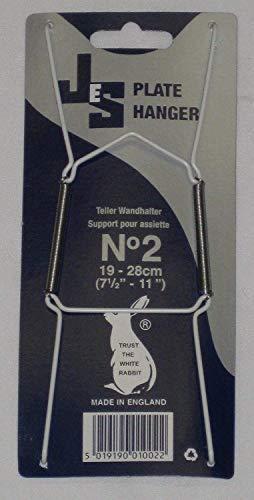 k&S Teller-Wandhalter, Größe2, für Teller mit Durchmesser 19-28cm, 10Stück