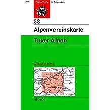 Tuxer Alpen: Wegmarkierung, 1: 50.000 (Alpenvereinskarten)