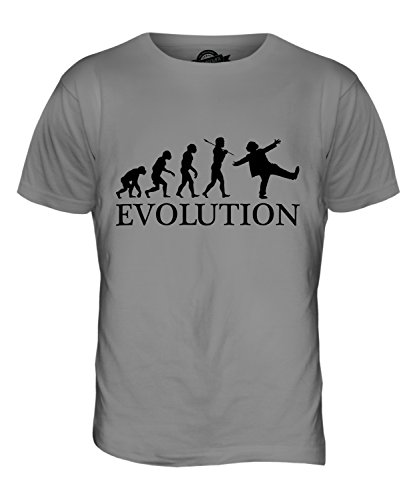 CandyMix Clown Evolution Des Menschen Herren T Shirt Hellgrau
