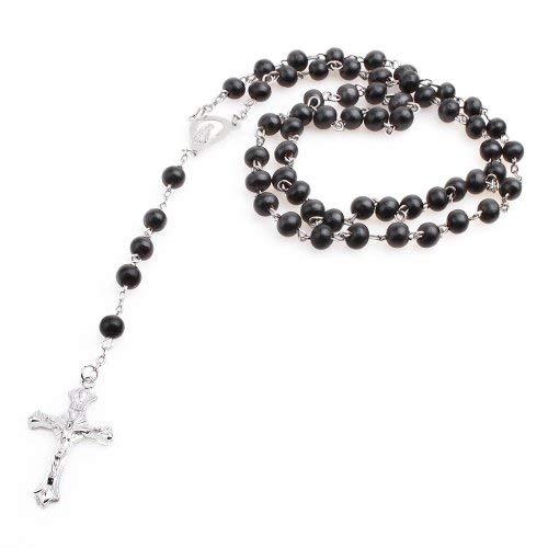 Kostüm Schwarzer Papst - Herren Damen Halsketten Rosenkranz Kreuzkette schwarz