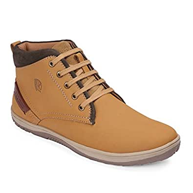 Red Chief Rust Leather Men's Casual Shoes
