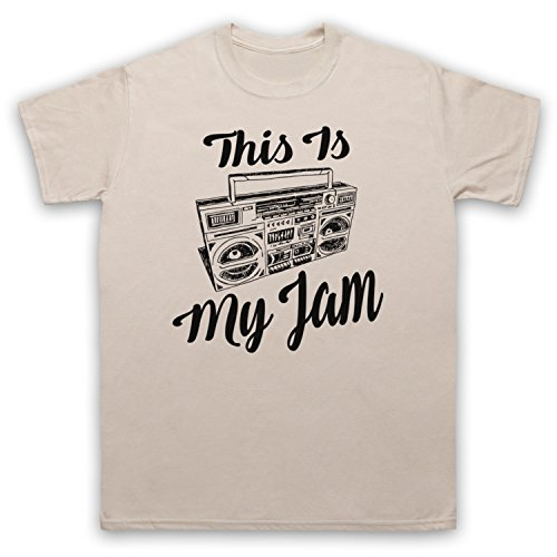 This Is My Jam Music Slogan Herren T-Shirt Beige