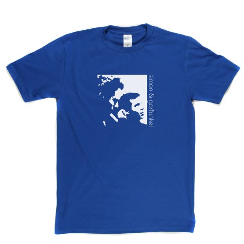Simon & Garfunkel American Folk Rock Duo Paul Art Music T-shirt Königsblau