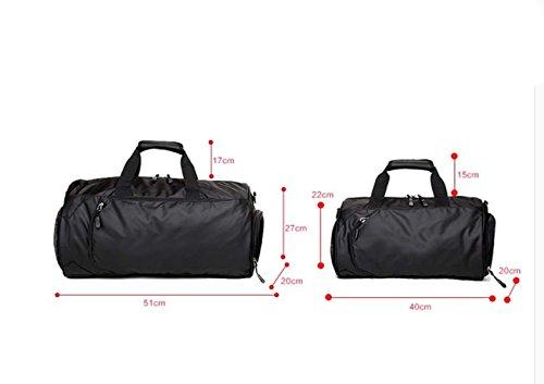 LAIDAYE Mobile Bag Geschäftsreisetasche Fitness Sporttasche Fitnesstasche Große Kapazität Handtasche Red