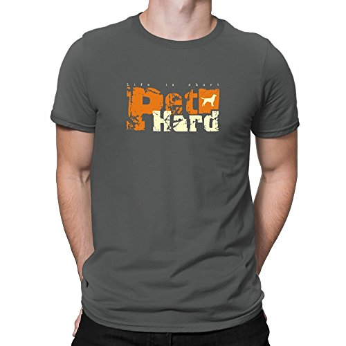 Teeburon LIFE IS SHORT PET HARD Labrador Retriever T-Shirt (Retriever-herren-shorts)
