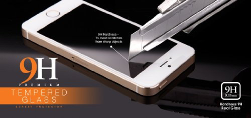 Apple iPhone SE / iPhone 5 SE / neues Modell 2016 - bayo Premium Gorilla Glas Display-Schutzfolie aus gehärtetem Panzerglas - Hart-Glas - Tempered-Glass - Top-Schutzglas gegen Kratzer mit Härtegrad 9H (0,33 mm gerundete Kanten) Schutzfolie Displayschutzglas