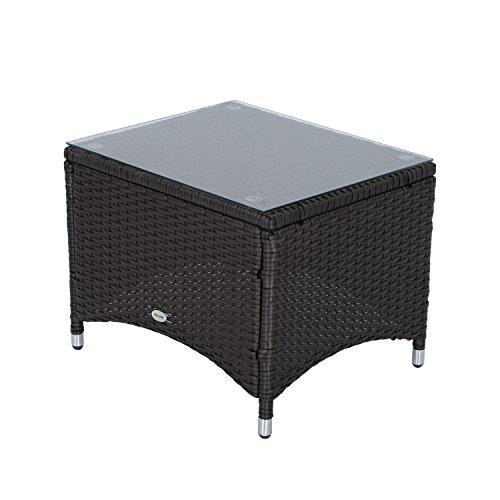 Outsunny rattan garden furniture 3 pcs sofa chair table for Rattan garden furniture seat covers