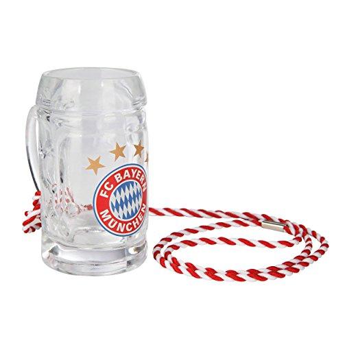 Preisvergleich Produktbild FC Bayern München Glas Gläser Weißbierglas Pilsglas Halbeglas Fanglas Maßkrug Bierkrug (Schnapsseidel Logo)