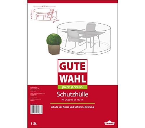 Dehner Gute Wahl Schutzhülle für Sitzgruppe, Ø 180 cm, Höhe 70 cm, Polyethylen, transparent