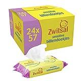 Zwitsal Baby Billendoekjes Sensitive voor de gevoelige huid - 24 x 57 wipes - Grootverpakking (1368 doekjes)