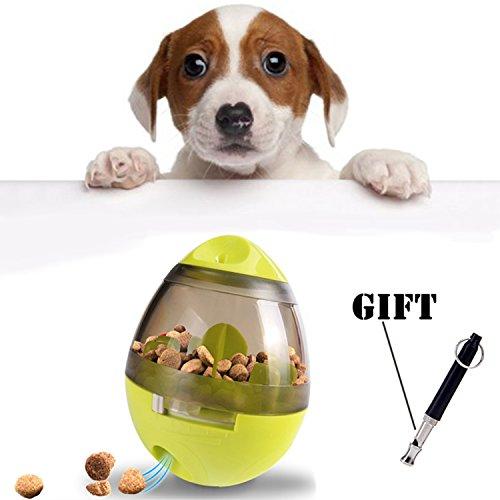 Hundespielzeug Hundefutter Ball, Treat Dispenser Ball Spielzeug Pet Food Ball für Hunde & Katzen Tumbler Design Einfach zu reinigen mit kostenlosem Geschenk Dog Whistle