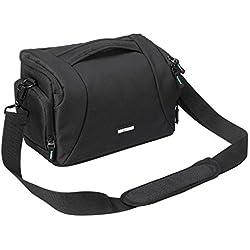Bodyguard Easy SLR XL Sac pour Appareil Photo Reflex numérique avec 3 objectifs Noir Taille L pour Canon EOS 70D 77D 80D 200D 1300D 2000D 4000 D700D 750D 760D 77D 800D 800D