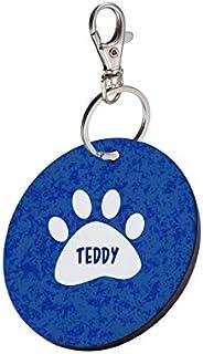 Sky Trends Round Shape Collar Locket/Pendant for Dogs & Puppy -993, Multicolour, Medium, 1 Count - T