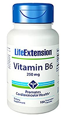 Life Extension Vitamin B6 (250mg, 100 Vegetarian Capsules) from Life Extension