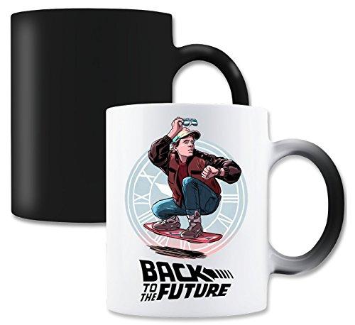 LukeTee Back to The Future Marty McFly Black Logo Magische Tee-Kaffeetasse