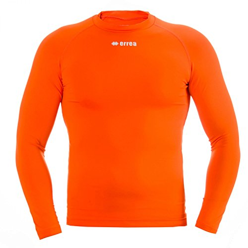 ERMES JR Funktionsshirt (langarm) von Erreà · KINDER Jungen Mädchen Sport Unterziehshirt (lang) aus Polyester · BASIC Slim-Fit Shirt (elastisch) für Teamsport · BASELAYER Kompressionsshirt (endotherm) geringe Kompression (Farbe orange, Größe YXS)