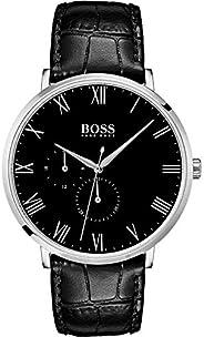 Hugo Boss Men's Black Dial Color Leather Strap Watch - 151