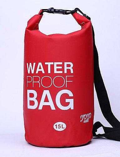 HWB/ 15 L Wasserdichte Dry Bag Camping & Wandern / Radsport Outdoor Wasserdicht / Kompakt Gelb / Grün / Rot / Grau / Schwarz / Blau PVC other Green