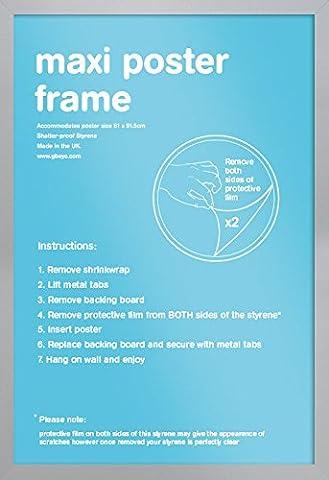 Cadre 60x90 - GB Eye Cadre pour affiche géante Argent