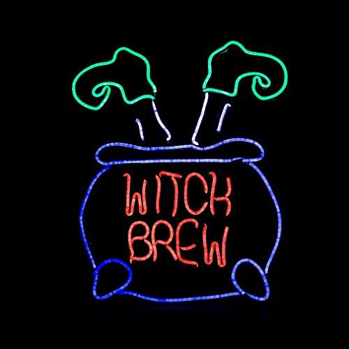 Halloween Deko Neon Leuchtschild Hexe Beine Nacht Lampe für Bar Kaffee Wandbild Haus ()