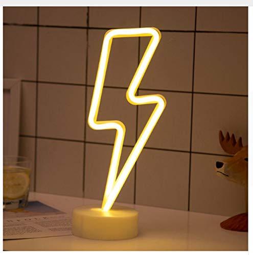 uchtung Wandlampe Wandleuchte Innen Led Neon Sign Light Star Moon Blitz Unicorn Neuheit Usb/Aa Batterie Power Lampe Home ()